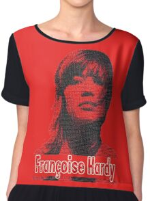 Francoise Hardy electric red design Chiffon Top
