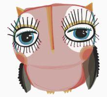 Little peach owl Baby Tee