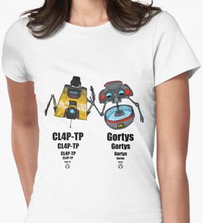 Claptrap and Gortys Womens Fitted T-Shirt