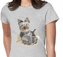 Little dog Womens Fitted T-Shirt