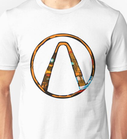 Borderlands symbol with Claptrap and Gortys Unisex T-Shirt
