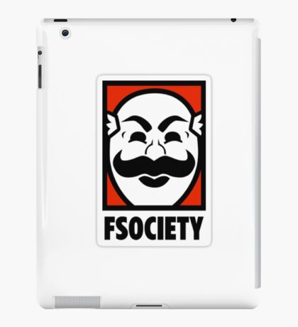 mr robot fuck society tv show anonymous t shirts iPad Case/Skin
