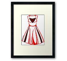 Colour Me Red Dress Framed Print