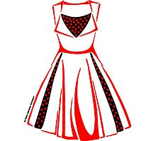 Colour Me Red Dress Photographic Print