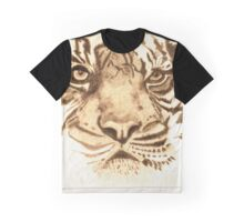 Pyrography Tiger Head Graphic T-Shirt