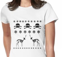 Winter Pattern Womens Fitted T-Shirt