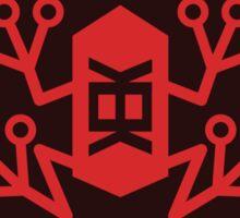 Bureau of memetic warfare red frog Sticker