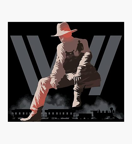 WestWorld - Man in Black Photographic Print