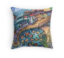 Tenby Daffodils Throw Pillow