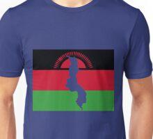 Malawi Flag With Map of Malawi Unisex T-Shirt