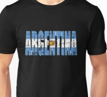 Argentina Font with Argentinian Flag Unisex T-Shirt