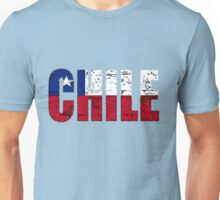 Chile Font with Chilean Flag Unisex T-Shirt