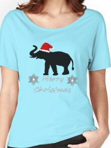 Christmas Elephant Women's Relaxed Fit T-Shirt