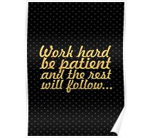 Work hard be... Gym Motivational Quote Poster