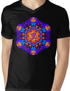 Om Mandala Mens V-Neck T-Shirt