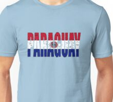 Paraguay Font with Flag of Paraguay Unisex T-Shirt