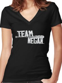Team Negan - The Spike Bat Walking Zombie Dead  Women's Fitted V-Neck T-Shirt