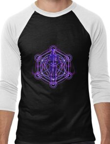Sacred Geometry and the Human Body Men's Baseball ¾ T-Shirt