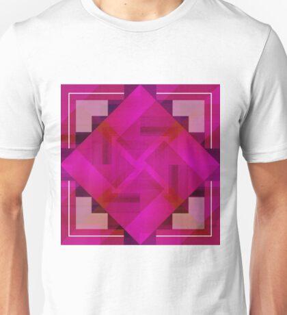 Fuchsia Shapes and Patterns Unisex T-Shirt