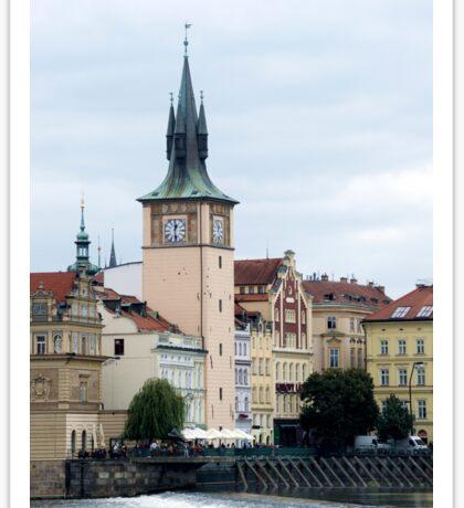 Riverside spires in Prague Sticker