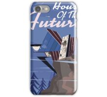 House of the future vintage style cartoon poster iPhone Case/Skin