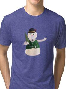 Sam the Snowman Tri-blend T-Shirt