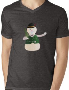 Sam the Snowman Mens V-Neck T-Shirt