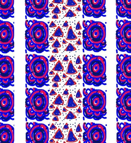 Red, white and blue swirl triangle pattern Sticker