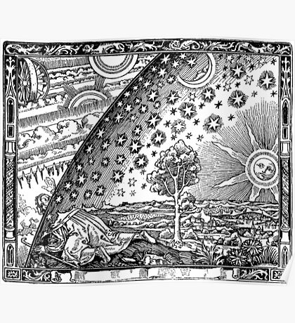 Flammarion Engraving The Sun and the Stars Poster