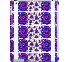 Red, white and blue swirl triangle pattern iPad Case/Skin