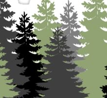 Pine Trees in a Forest Sticker