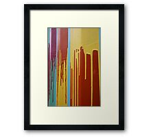 Colourful Paint Framed Print
