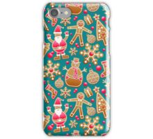 Cute Christmas Gingerbread Cookie Pattern iPhone Case/Skin