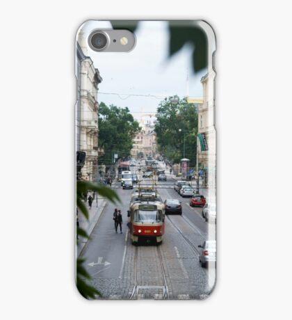 Street car in Prague iPhone Case/Skin