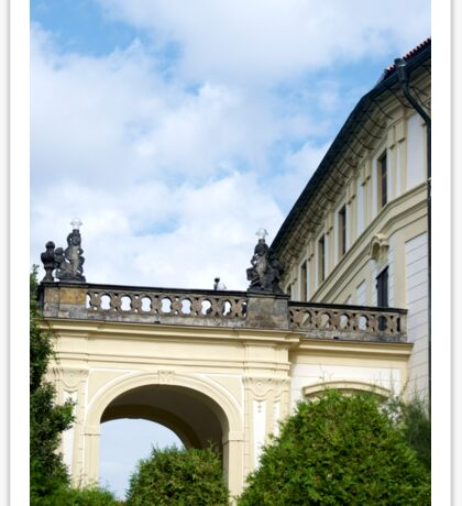 Palatial arches in Prague Sticker