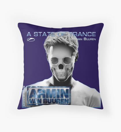 Armin skull ASOT Throw Pillow