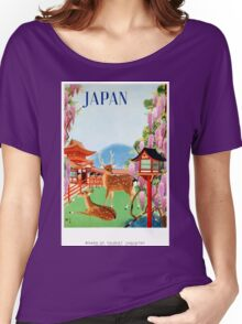 Vintage Japan Temple Travel Poster Women's Relaxed Fit T-Shirt