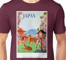 Vintage Japan Temple Travel Poster Unisex T-Shirt