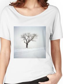 Old Tree in the Snow Women's Relaxed Fit T-Shirt