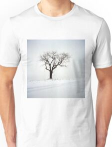 Old Tree in the Snow Unisex T-Shirt