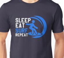 Sleep Eat Surf Repeat Unisex T-Shirt