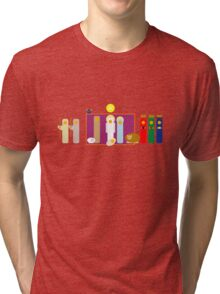 Minimalist Christmas Nativity Scene Tri-blend T-Shirt