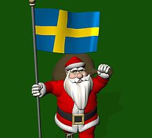 Santa Claus With Flag Of Sweden by Mythos57