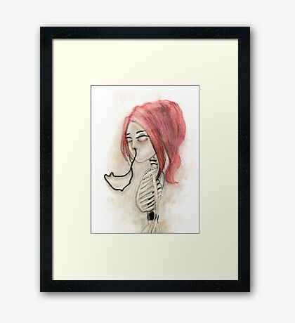 The inability to perceive with eyes notebook III Framed Print
