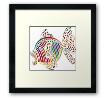 Fish Color Abstract Framed Print