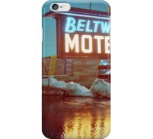 Evening at the Beltway Motel iPhone Case/Skin