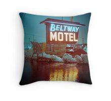 Evening at the Beltway Motel Throw Pillow