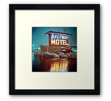 Evening at the Beltway Motel Framed Print
