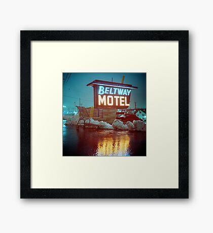 Evening at the Beltway Motel Framed Print