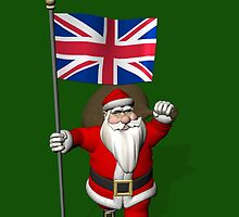 Santa Claus With Flag Of The United Kingdom by Mythos57